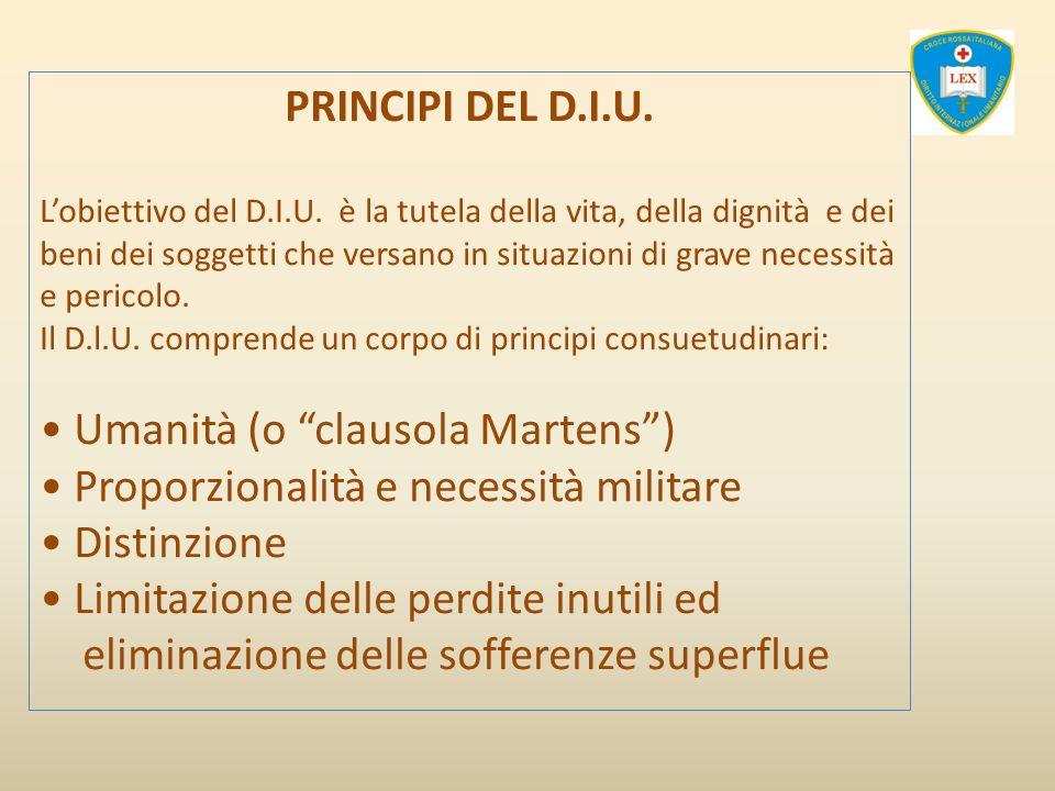 • Umanità (o clausola Martens )