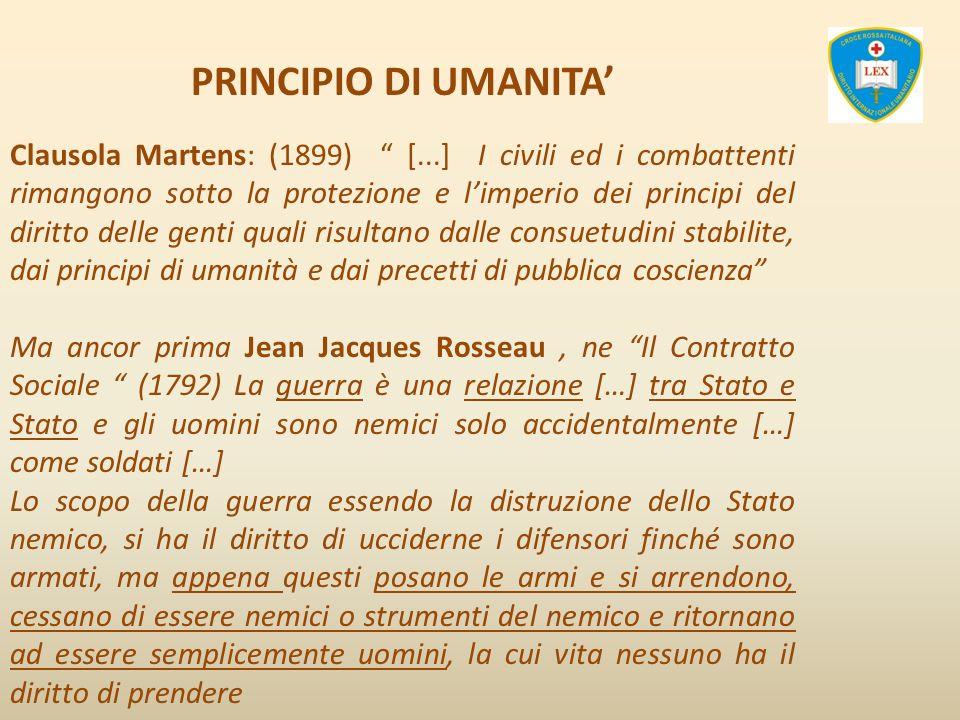 PRINCIPIO DI UMANITA'