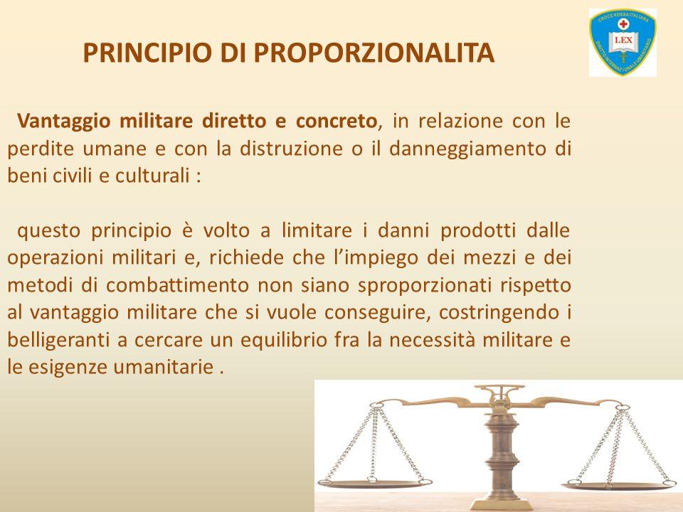 PRINCIPIO DI PROPORZIONALITA
