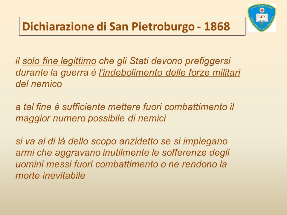 Dichiarazione di San Pietroburgo - 1868