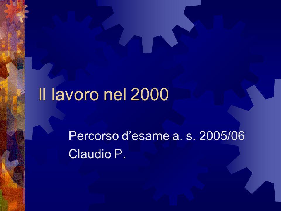 Percorso d'esame a. s. 2005/06 Claudio P.