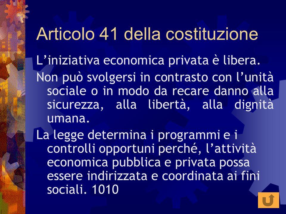 Articolo 41 della costituzione