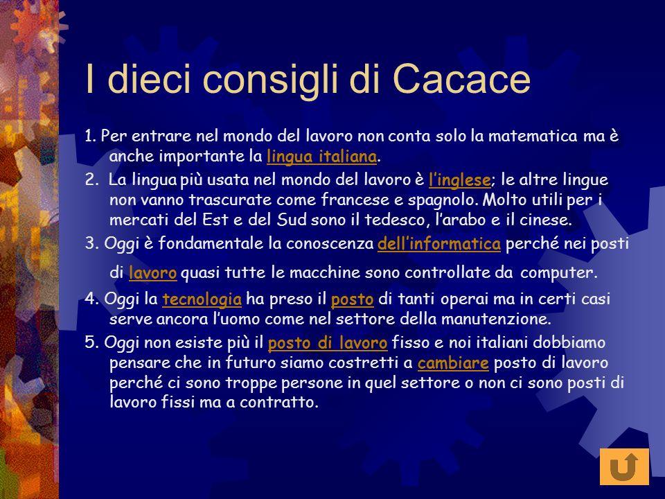 I dieci consigli di Cacace