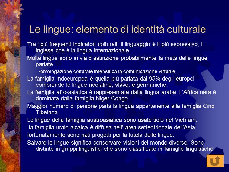 Le lingue: elemento di identità culturale