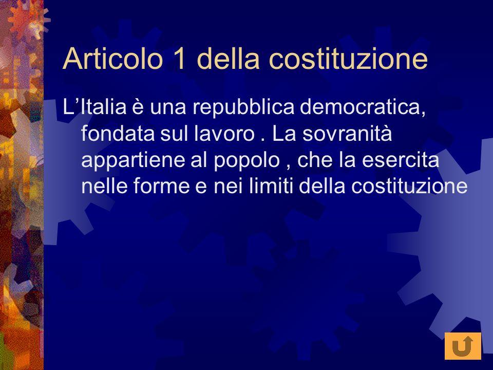 Articolo 1 della costituzione