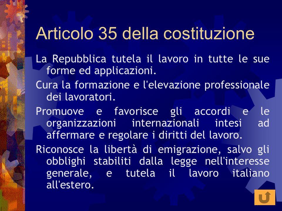Articolo 35 della costituzione