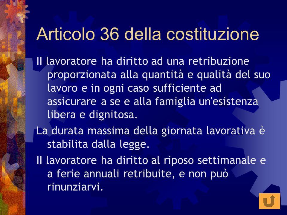 Articolo 36 della costituzione