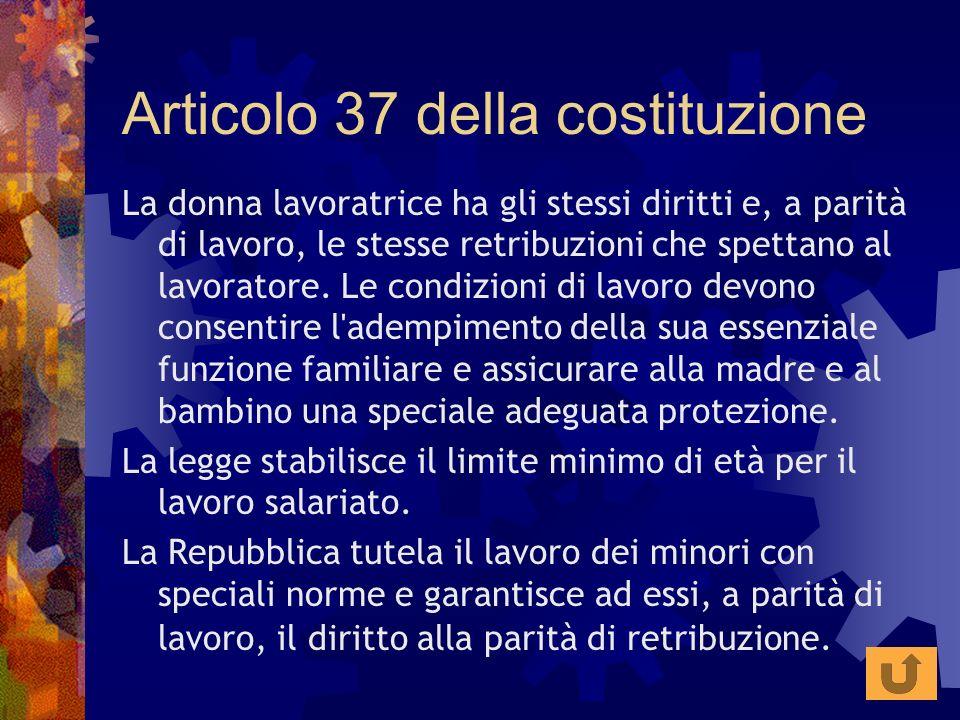 Articolo 37 della costituzione