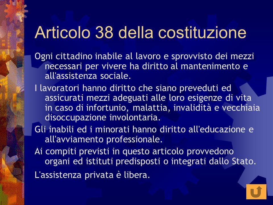 Articolo 38 della costituzione