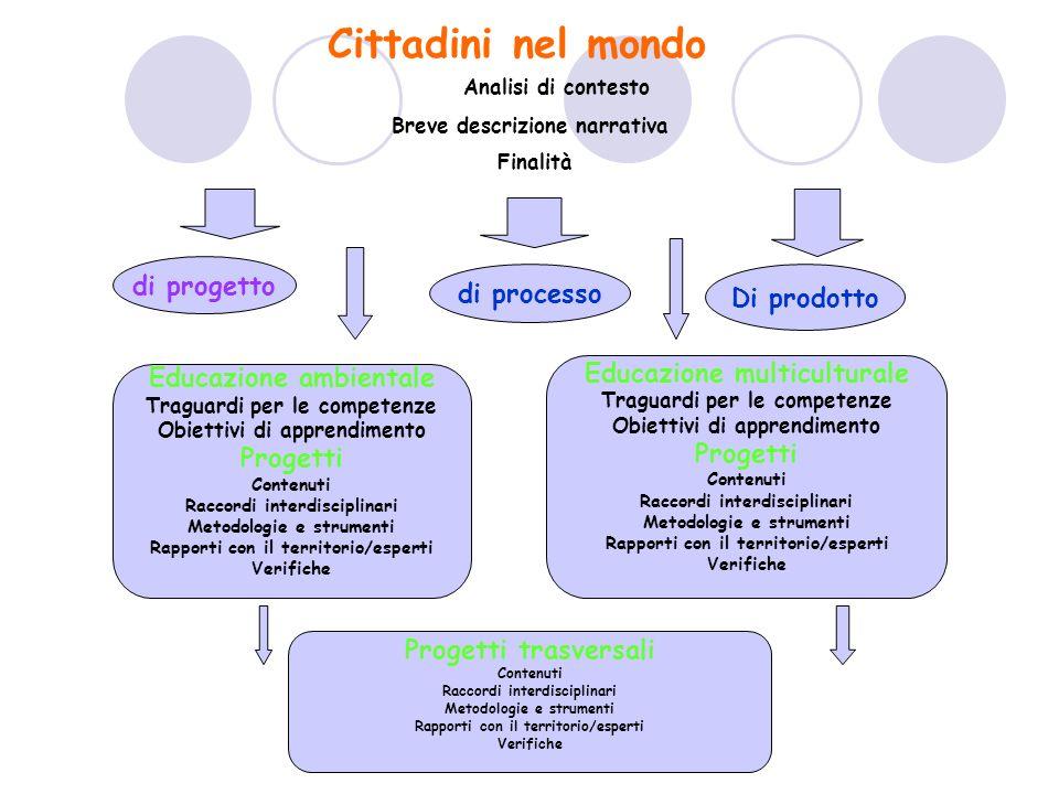 Cittadini nel mondo Analisi di contesto di progetto di processo