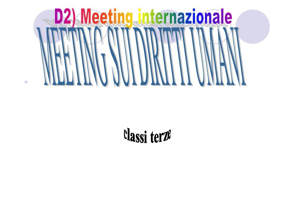 D2) Meeting internazionale MEETING SUI DIRITTI UMANI