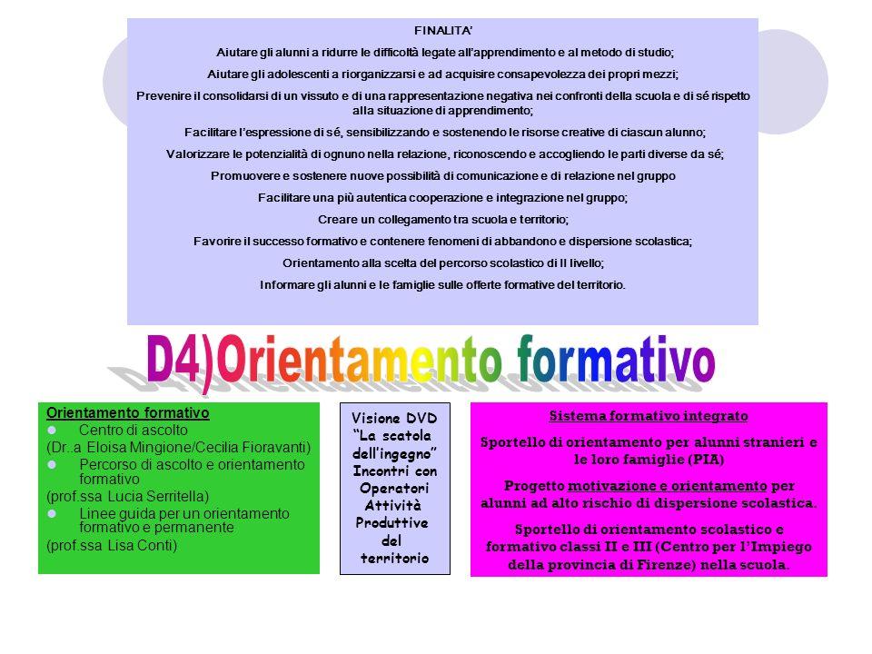 D4)Orientamento formativo