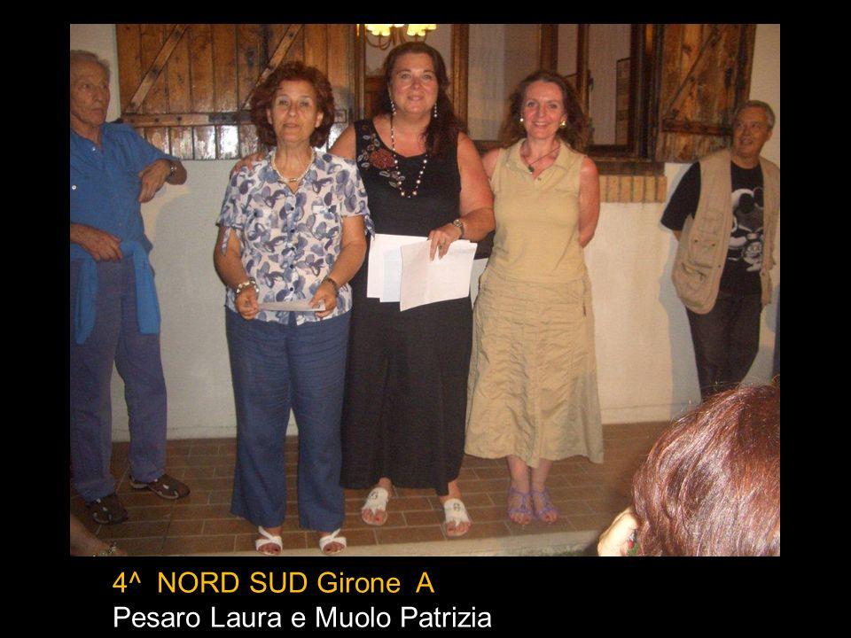 4^ NORD SUD Girone A Pesaro Laura e Muolo Patrizia