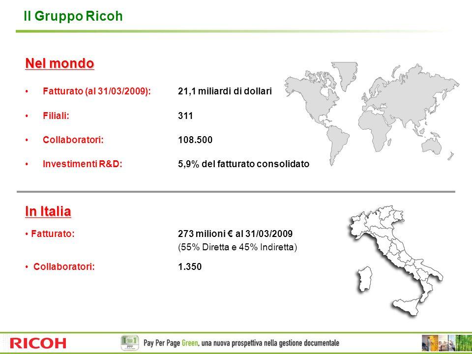 Il Gruppo Ricoh Nel mondo In Italia