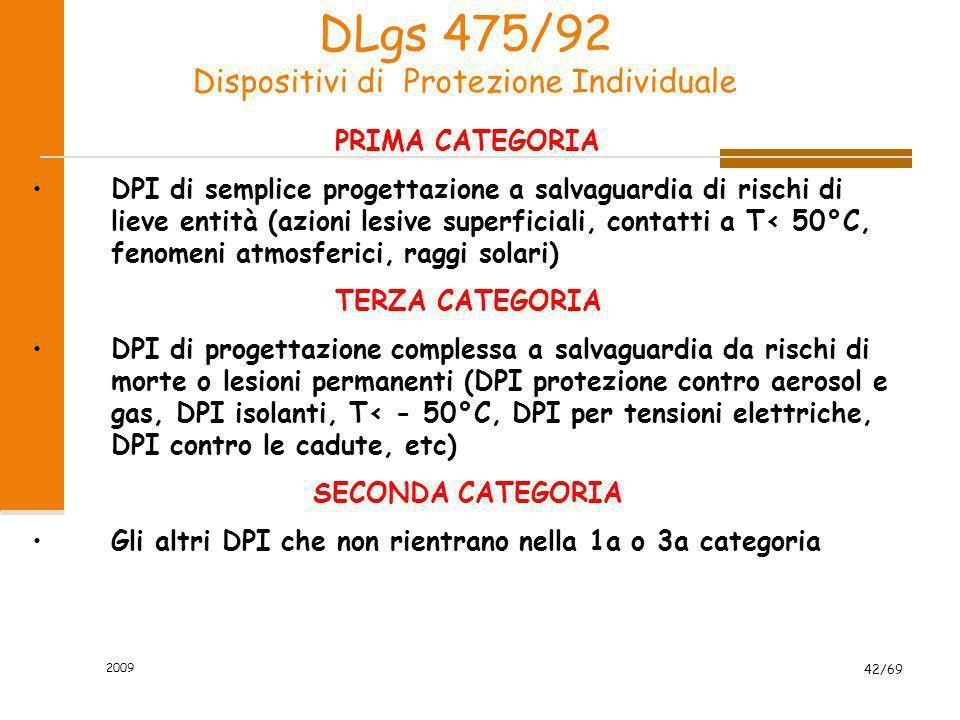 DLgs 475/92 Dispositivi di Protezione Individuale