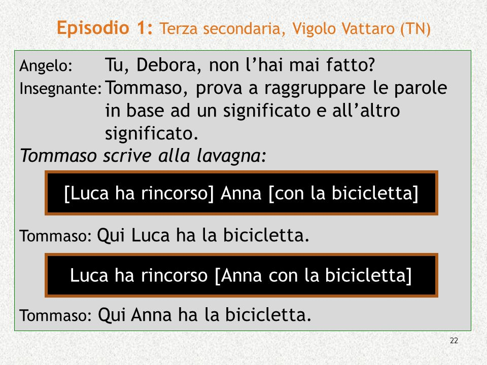 Episodio 1: Terza secondaria, Vigolo Vattaro (TN)