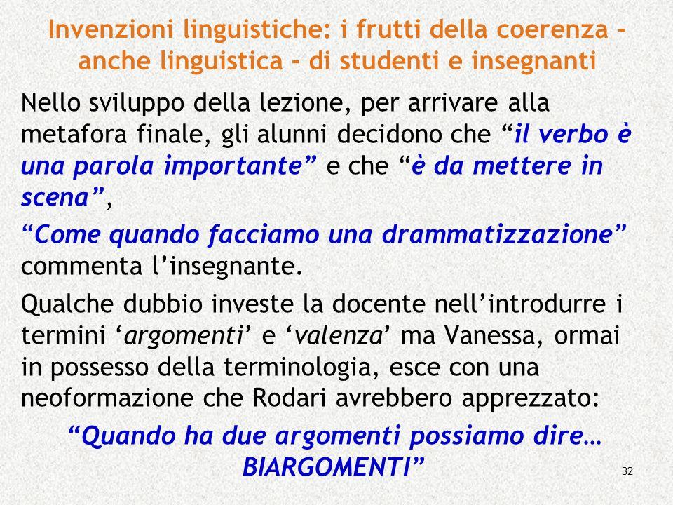 Invenzioni linguistiche: i frutti della coerenza - anche linguistica - di studenti e insegnanti