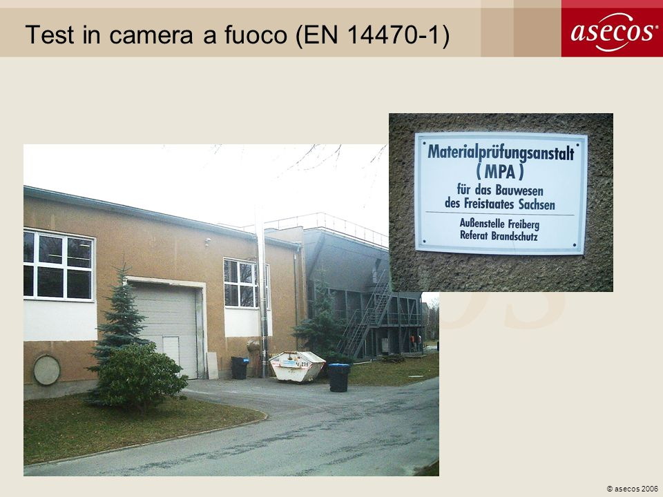 Test in camera a fuoco (EN 14470-1)
