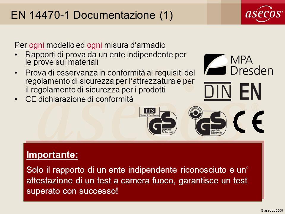 EN 14470-1 Documentazione (1) Importante:
