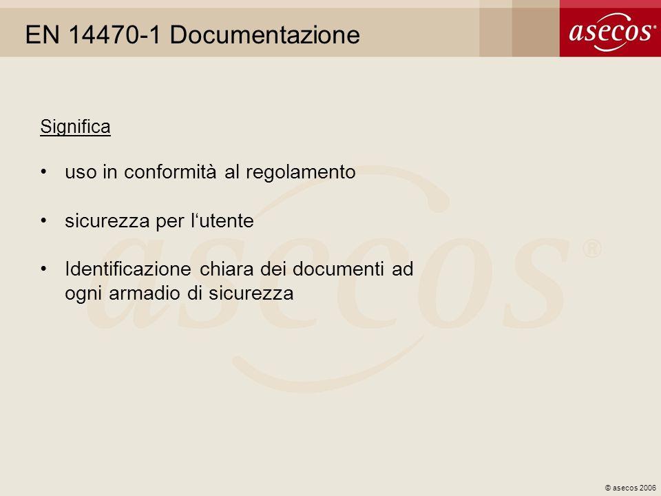EN 14470-1 Documentazione uso in conformità al regolamento