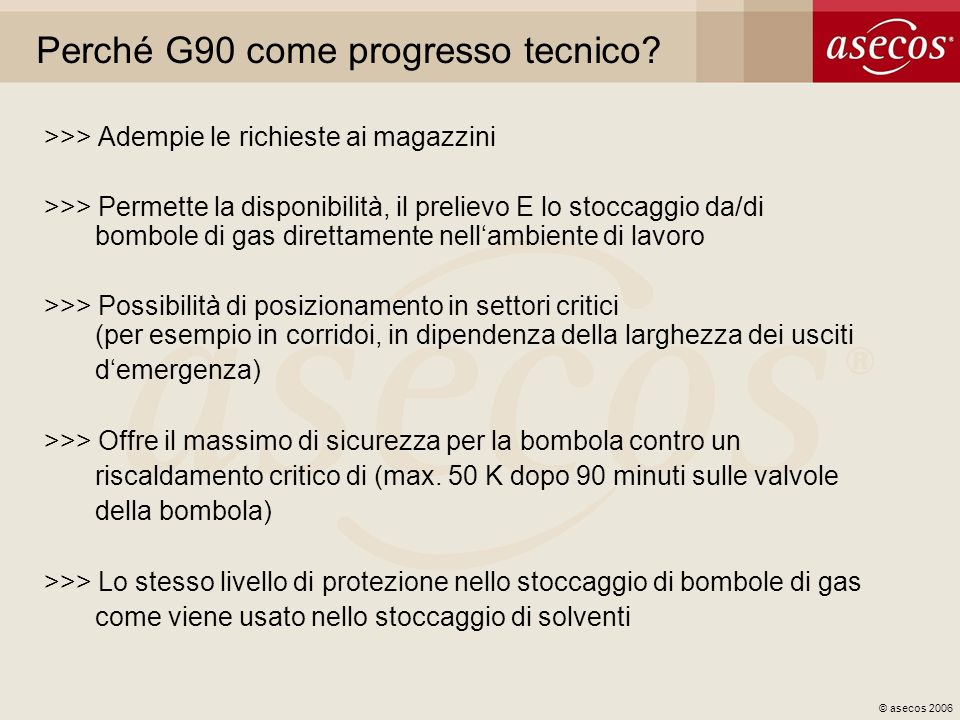 Perché G90 come progresso tecnico