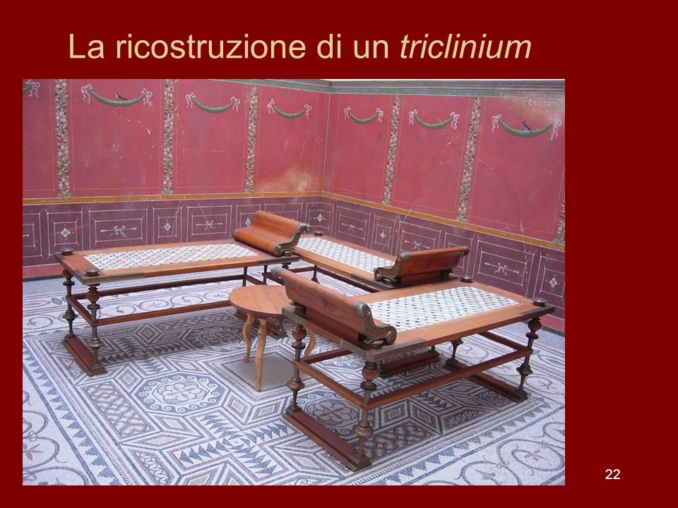 La ricostruzione di un triclinium