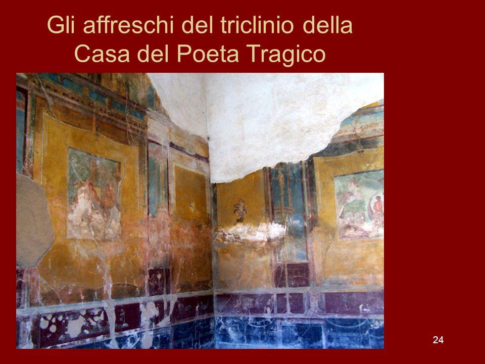 Gli affreschi del triclinio della Casa del Poeta Tragico