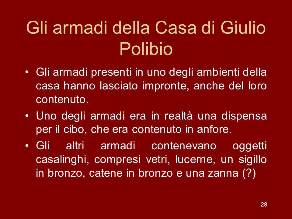 Gli armadi della Casa di Giulio Polibio