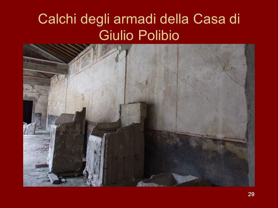 Calchi degli armadi della Casa di Giulio Polibio