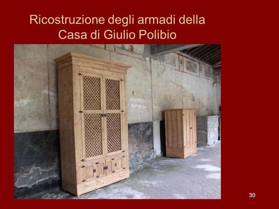 Ricostruzione degli armadi della Casa di Giulio Polibio