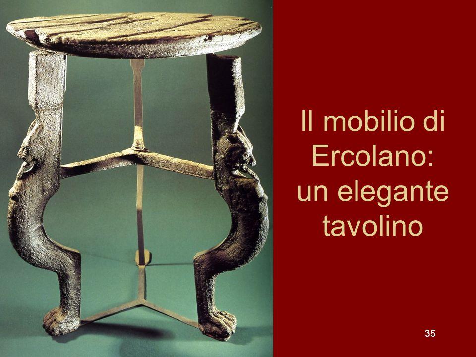 Il mobilio di Ercolano: un elegante tavolino