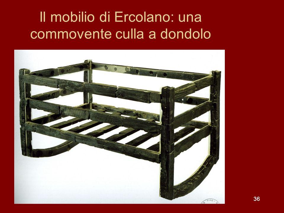 Il mobilio di Ercolano: una commovente culla a dondolo