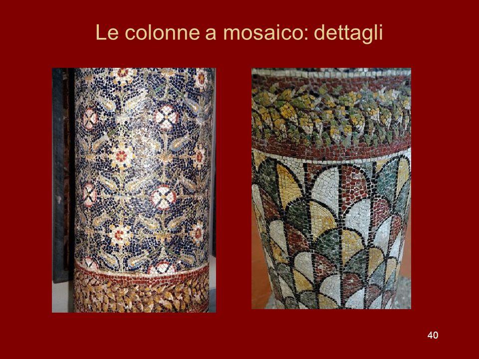 Le colonne a mosaico: dettagli