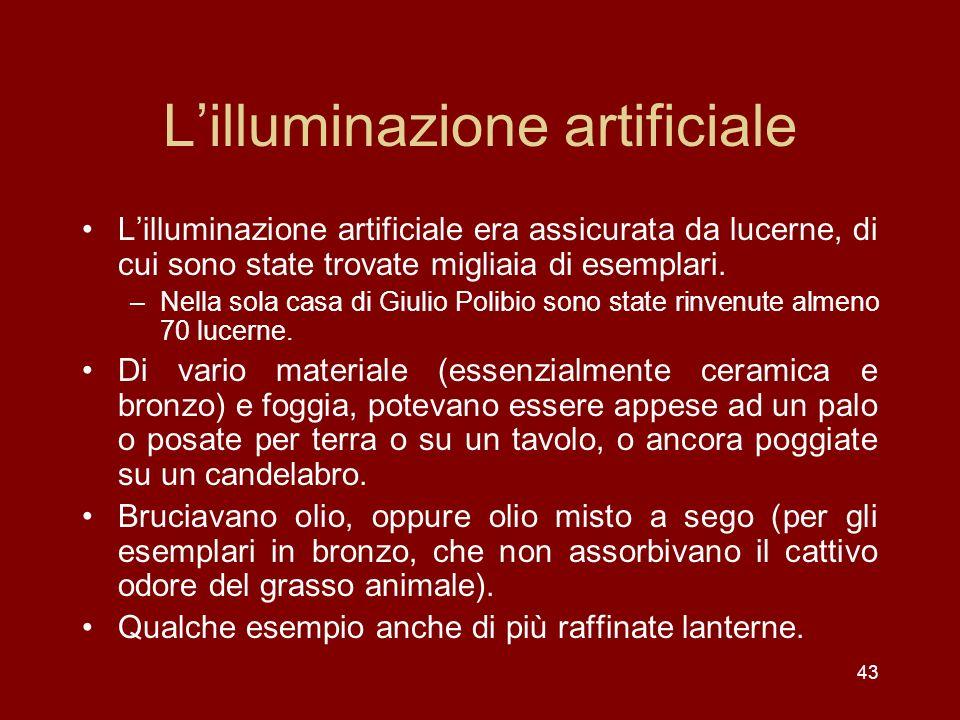 L'illuminazione artificiale