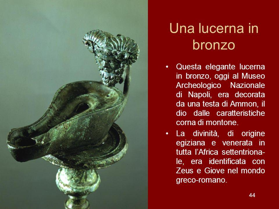 Una lucerna in bronzo