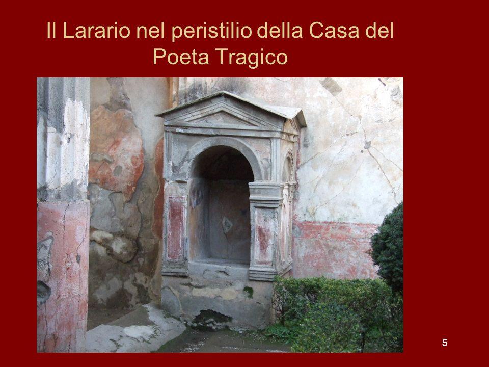Il Larario nel peristilio della Casa del Poeta Tragico