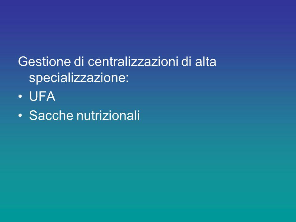 Gestione di centralizzazioni di alta specializzazione: