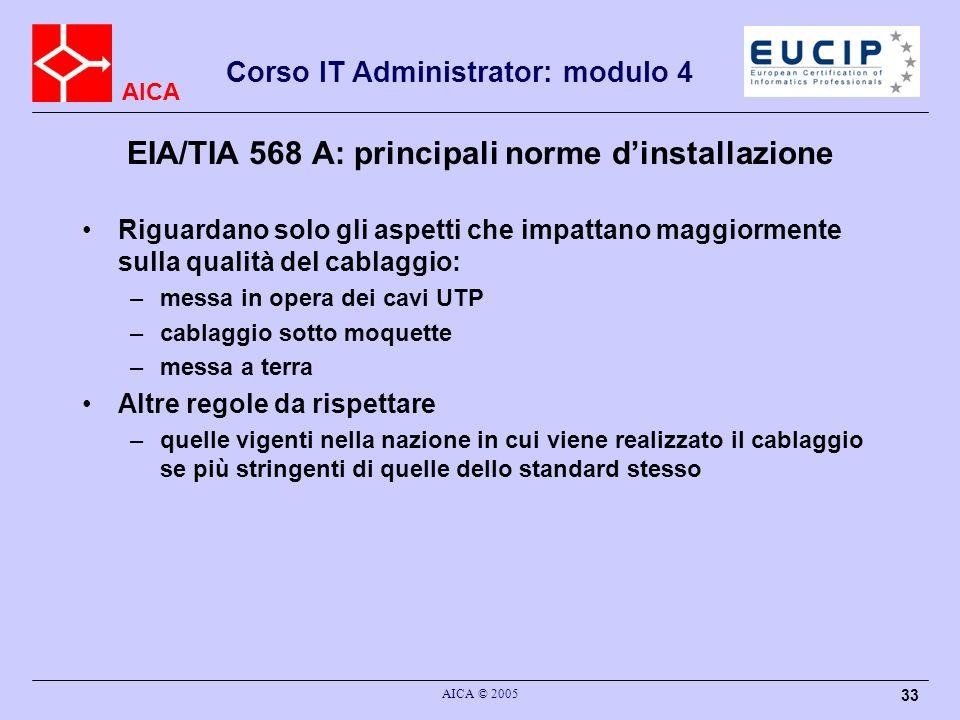 EIA/TIA 568 A: principali norme d'installazione
