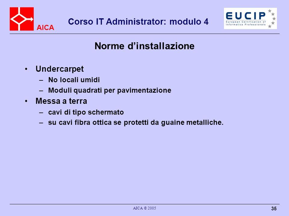 Norme d'installazione
