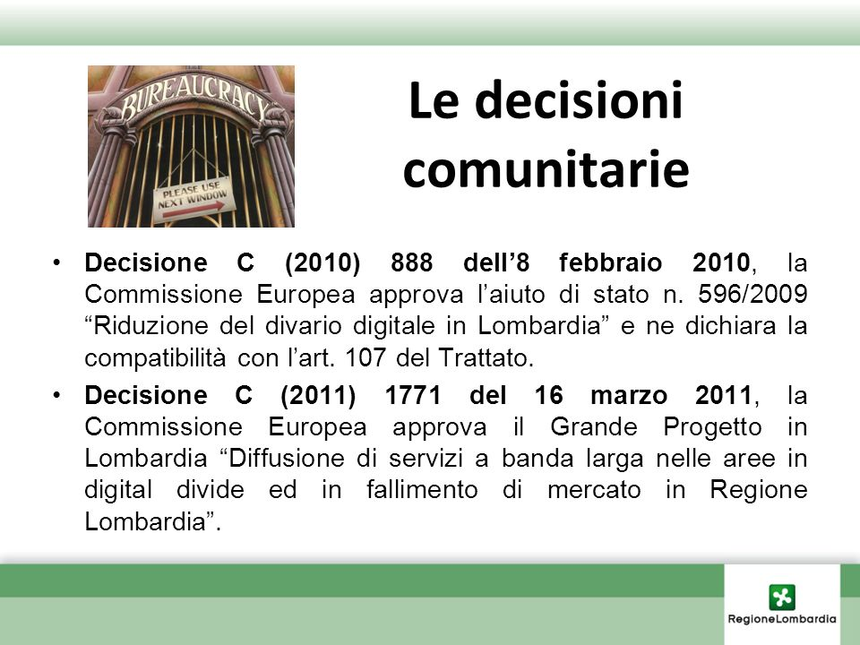 Le decisioni comunitarie