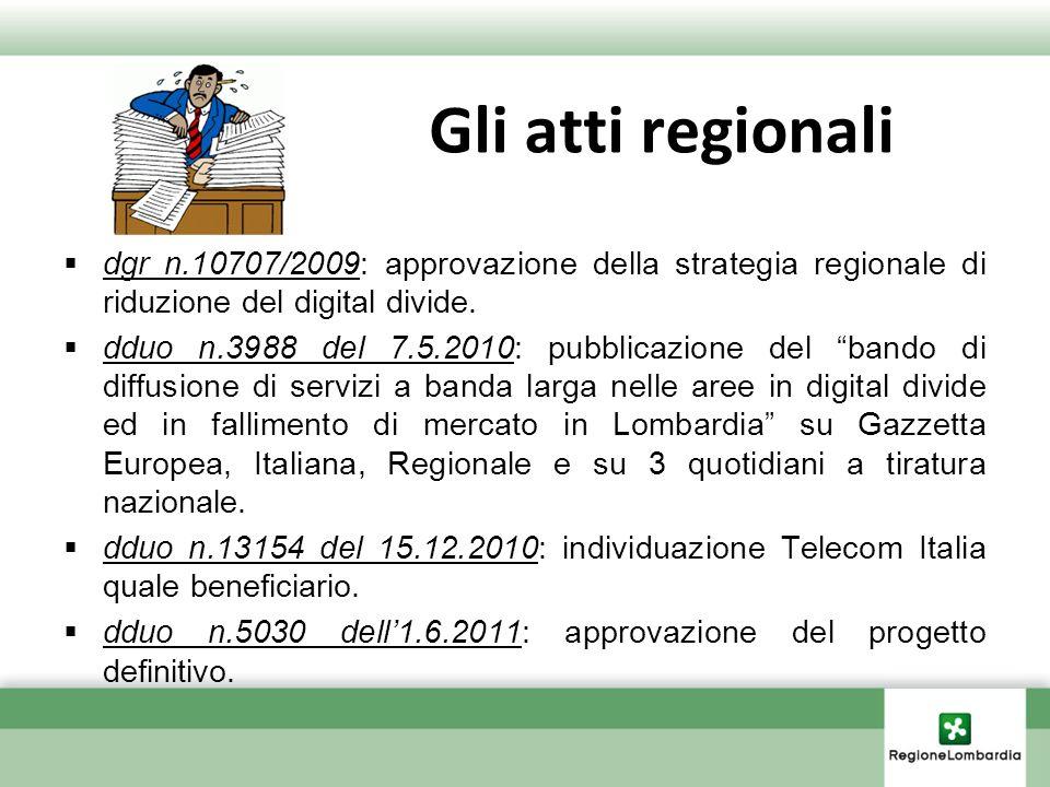 Gli atti regionalidgr n.10707/2009: approvazione della strategia regionale di riduzione del digital divide.