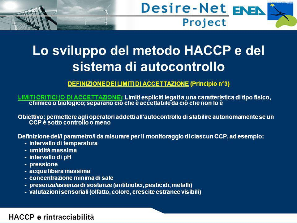 Lo sviluppo del metodo HACCP e del sistema di autocontrollo