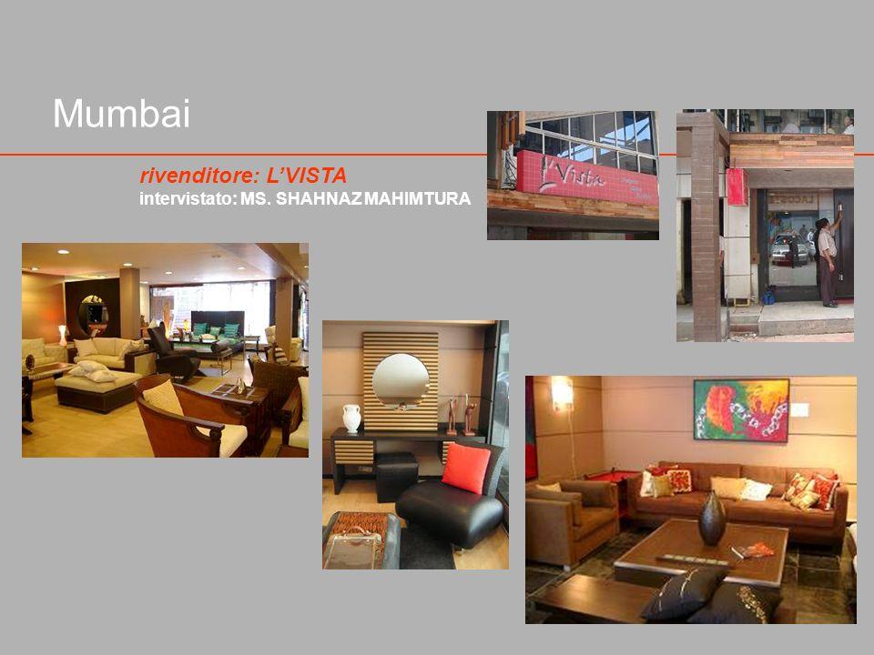 Mumbai rivenditore: L'VISTA intervistato: MS. SHAHNAZ MAHIMTURA