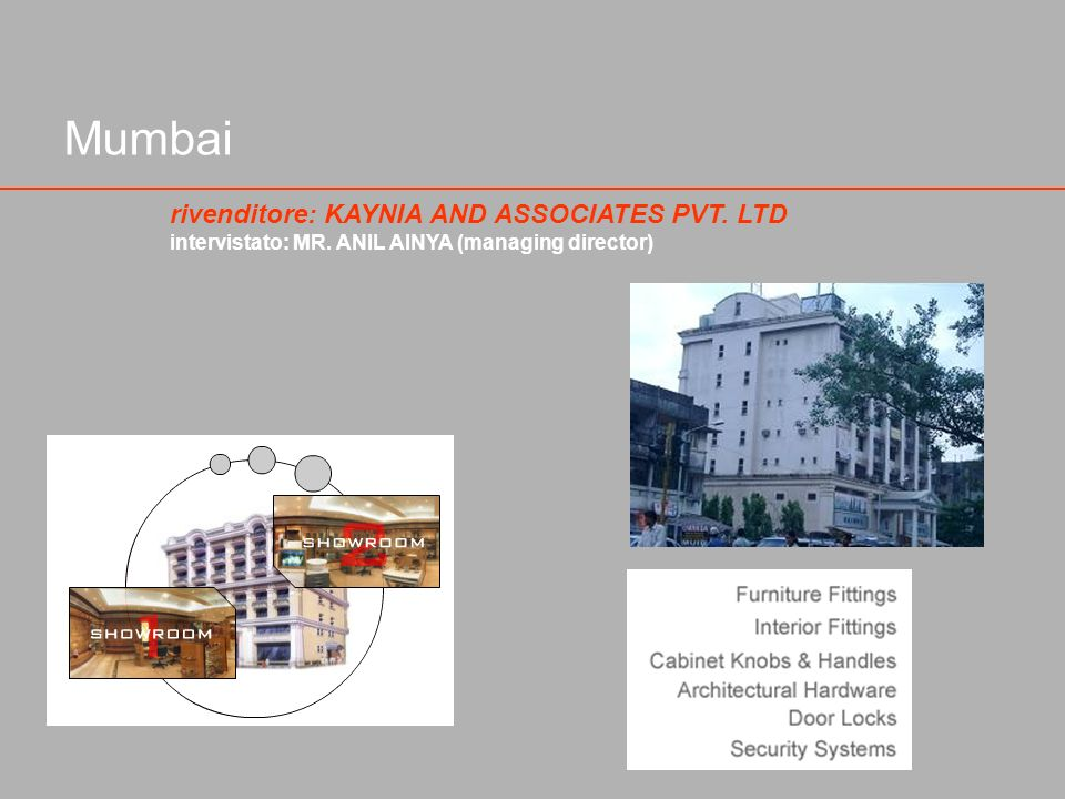 Mumbai rivenditore: KAYNIA AND ASSOCIATES PVT. LTD