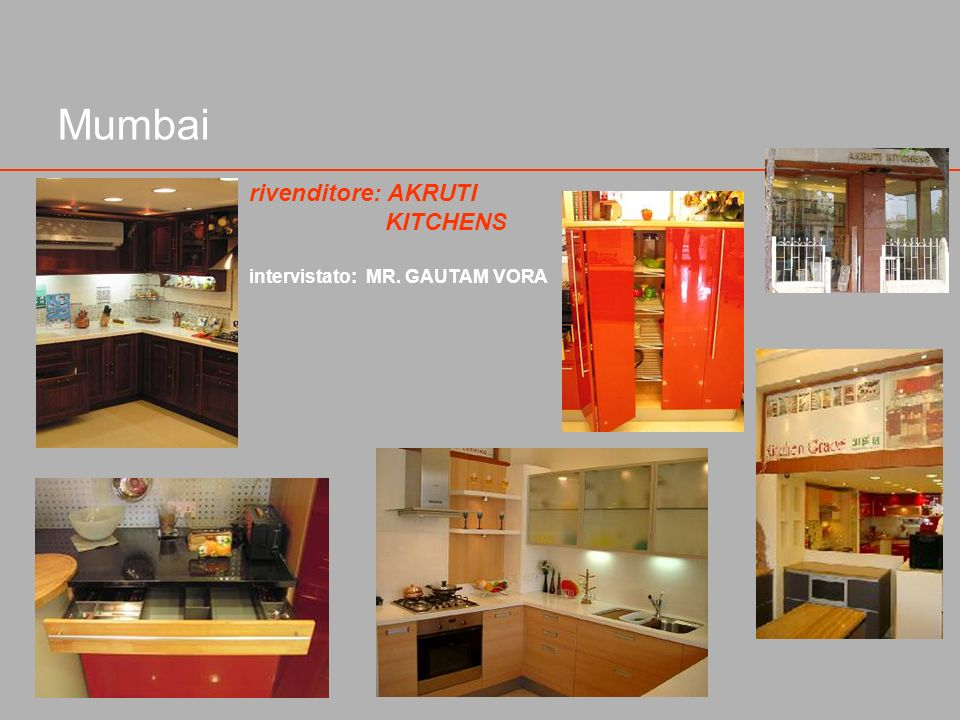 Mumbai rivenditore: AKRUTI KITCHENS intervistato: MR. GAUTAM VORA
