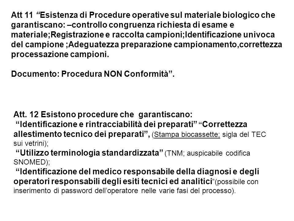 Documento: Procedura NON Conformità .