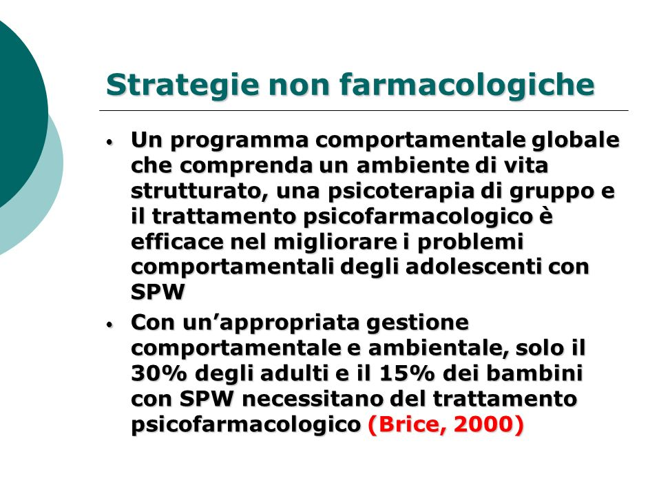 Strategie non farmacologiche