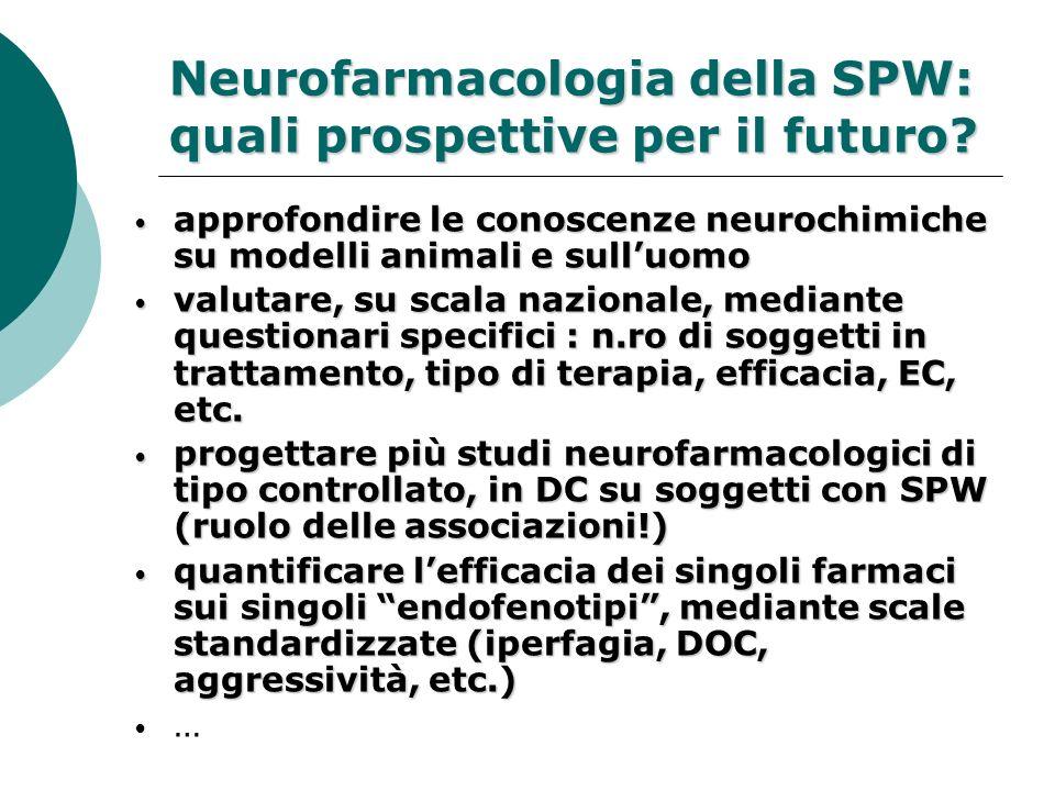 Neurofarmacologia della SPW: quali prospettive per il futuro