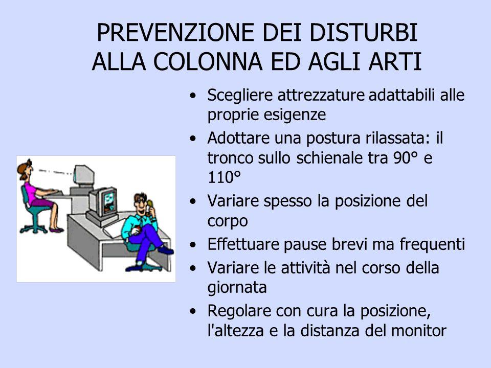 PREVENZIONE DEI DISTURBI ALLA COLONNA ED AGLI ARTI