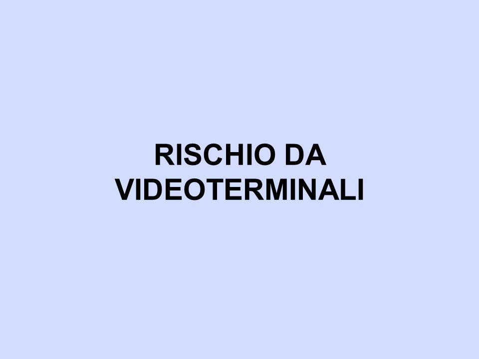 RISCHIO DA VIDEOTERMINALI